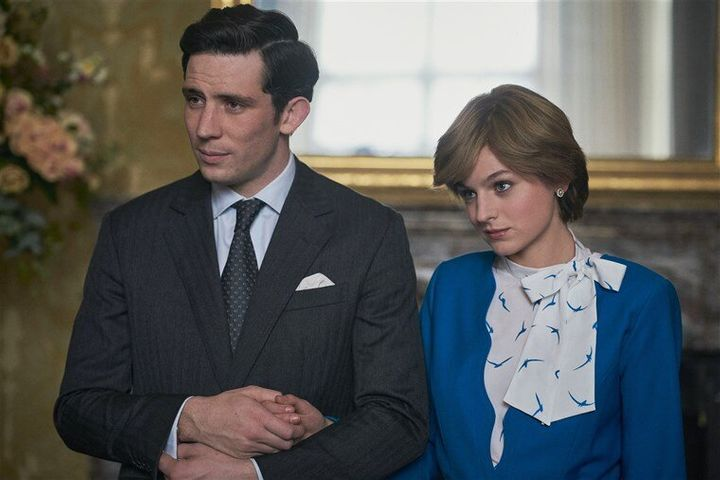 Josh O'Connor and Emma Corrin play Prince Charles and Princess Diana in The Crown