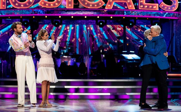 The pair faced Jamie Laing and Karen Hauer in the dance