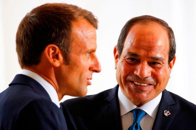 Macron attendu au tournant sur les droits de l'Homme en recevant Al-Sissi (photo d'illustration prise...