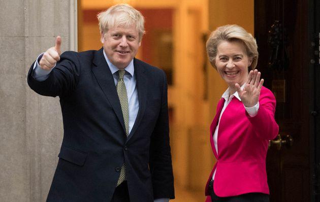 Boris Johnson and Ursula von der
