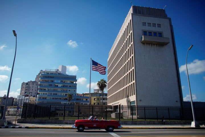 The U.S. Embassy in Havana, Cuba, is seen in 2019.Between late 2016 and May 2018, several U.S. and Canadian diplomats i