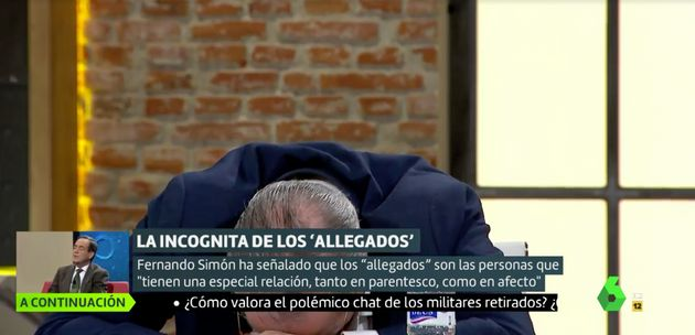 Antonio Miguel Carmona no puede aguantar la risa en 'Liarla Pardo'