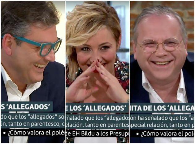 Marc Vidal, Cristina Pardo y Antonio Miguel Carmona, se ríen en 'Liarla Pardo'