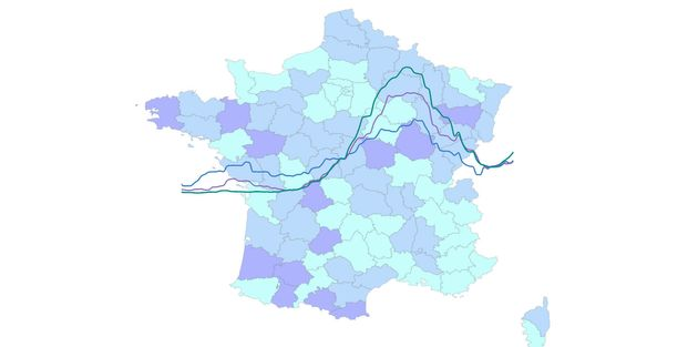 La courbe du nombre de cas Covid-19 stagne en France et augmente même dans certains