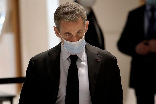 Au début de son interrogatoire ce 7 décembre, Nicolas Sarkozy (ici le 30 novembre à...