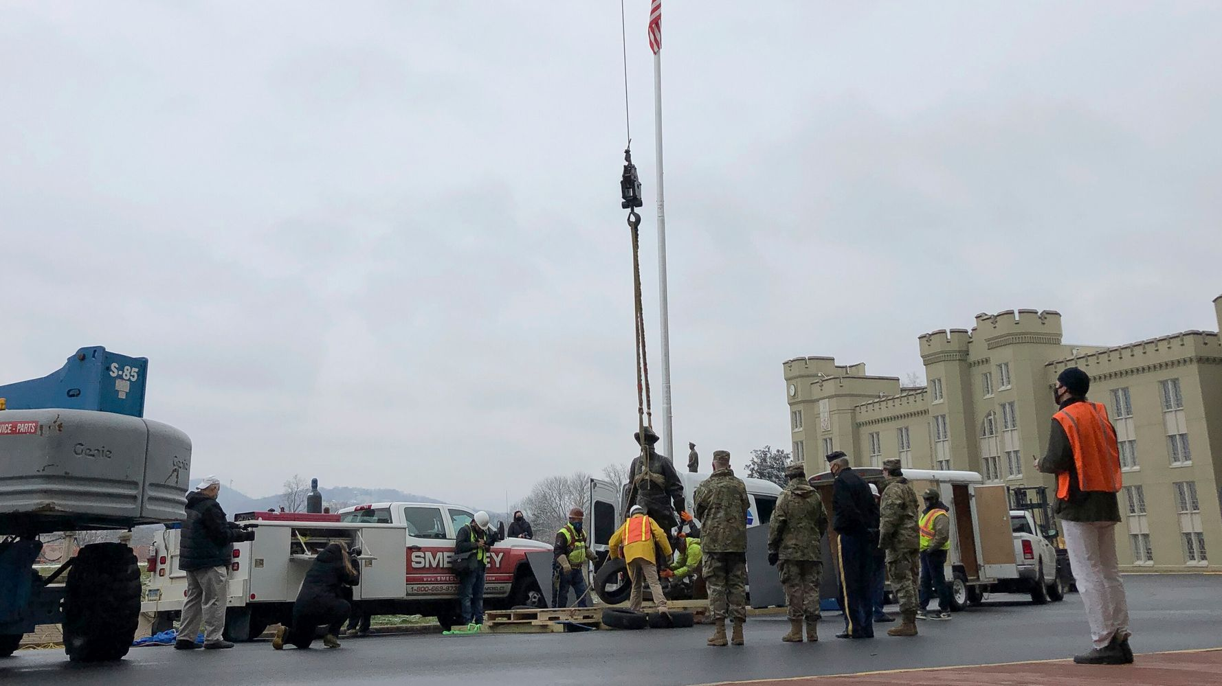 Virginia Military Institute Removes Confederate 'Stonewall' Jackson Statue