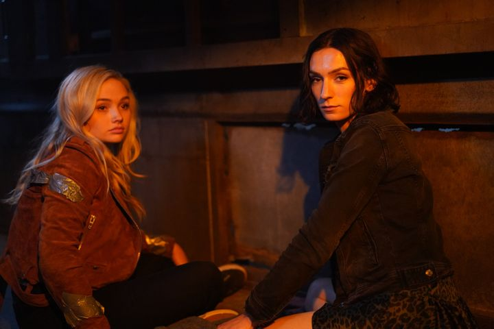 """Keitel (right, with co-star Natalie Alyn Lind) is hopeful viewers can """"look past [Jerrie's] trans and nonbinary i"""
