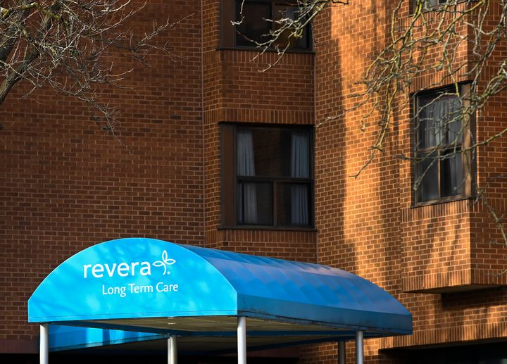 Revera Westside long-term care home in Toronto on Dec. 7, 2020. The home has seen 14 resident deaths, according to provincial data.