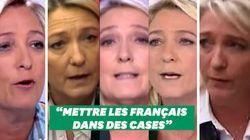 Marine Le Pen n'aime pas mettre les Français