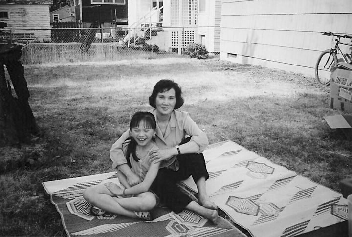 The writer, 13, and her mother have a summer barbecue in the writer's aunt's backyard.