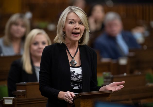 Conservative House Leader Candice Bergen rises during Question Period in the House of Commons in Ottawa,...