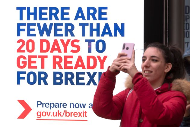 UK government posters along Edinburgh's Princes Street advising people to prepare for