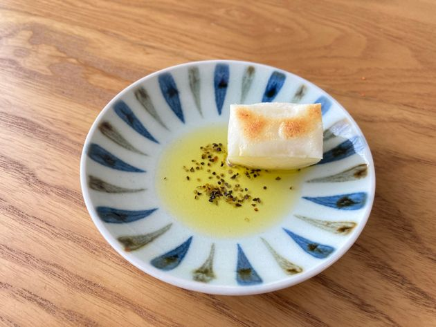 オリーブオイルと胡椒