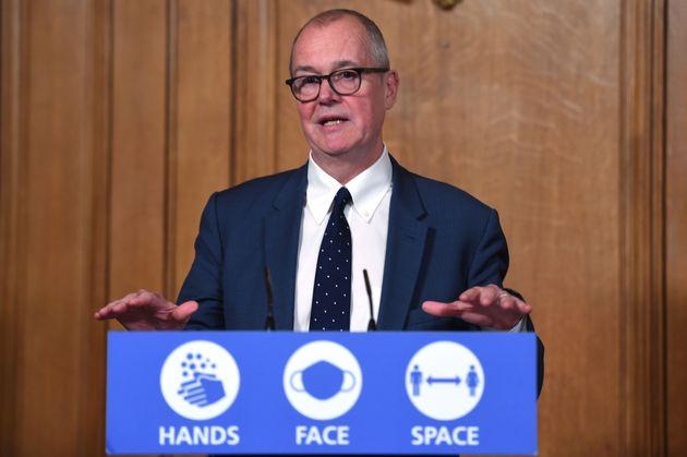 Patrick Vallance, principal asesor científico de Reino Unido, durante una rueda de prensa sobre...
