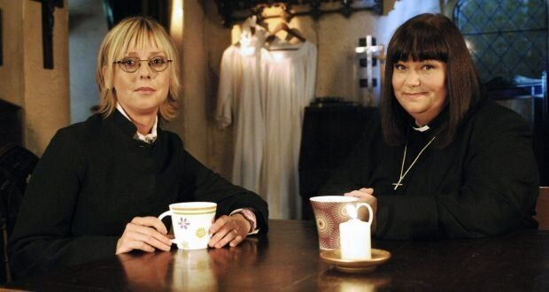 Emma and Dawn appearing in The Vicar of Dibley.