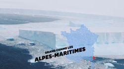 Le plus gros iceberg du monde menace une île