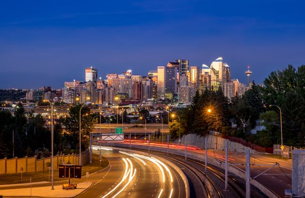 The Calgary skyline is seen in this stock
