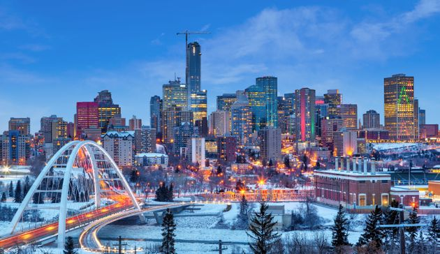The Edmonton skyline is seen in this stock