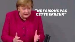 Émue, Angela Merkel