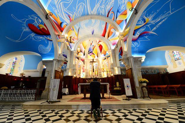 À l'intérieur d'une église Châtelaillon-Plage (Charente-Maritime), le 20 novembre