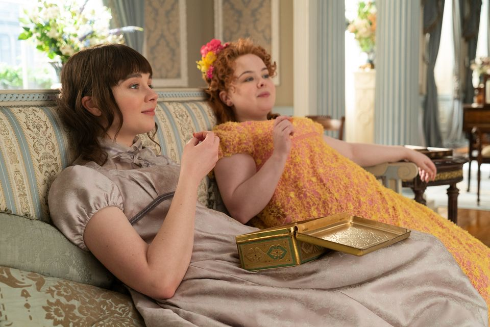 Nicola (right) stars as Penelope alongside Claudia Jessie, who plays her best