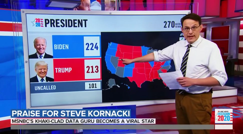 MSNBC's Steve Kornacki's electoral math was too hot to handle for some.