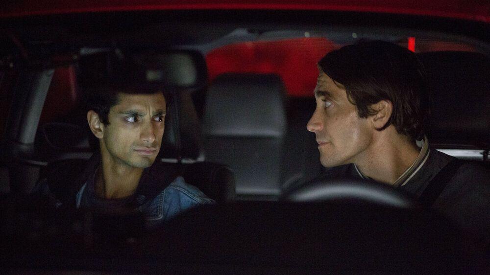 "Ahmed and Jake Gyllenhaal in ""Nightcrawler."""