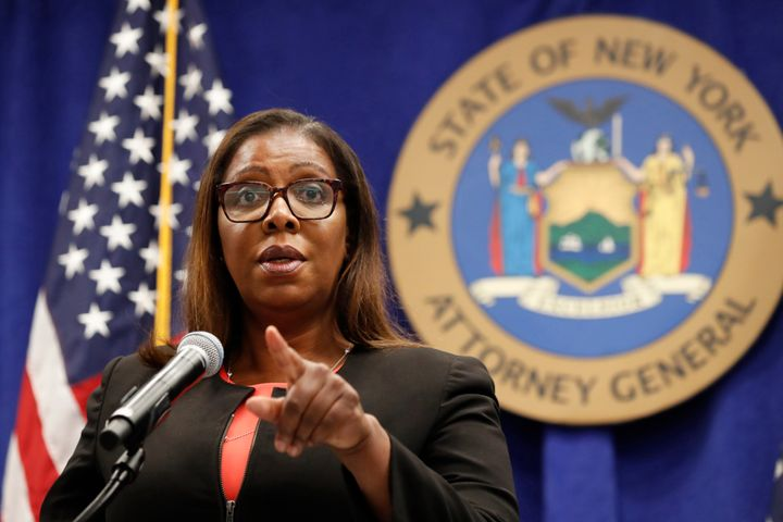 The landmark antitrust lawsuits, announced by the Federal Trade Commission and New York Attorney General Letitia James, above