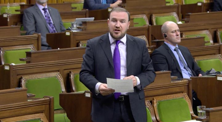 Conservative MP Eric Duncan speaks in the House of Commons on Dec. 9, 2020.