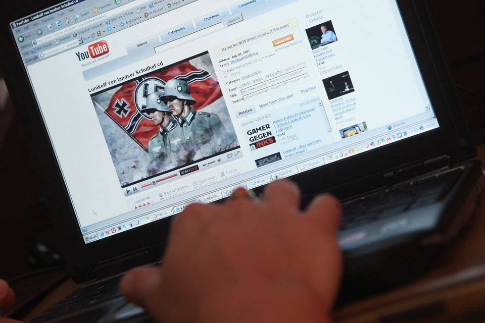 A video from the German neo-Nazi music band Lunikoff is seen on YouTube on August 27, 2007 in Berlin,...