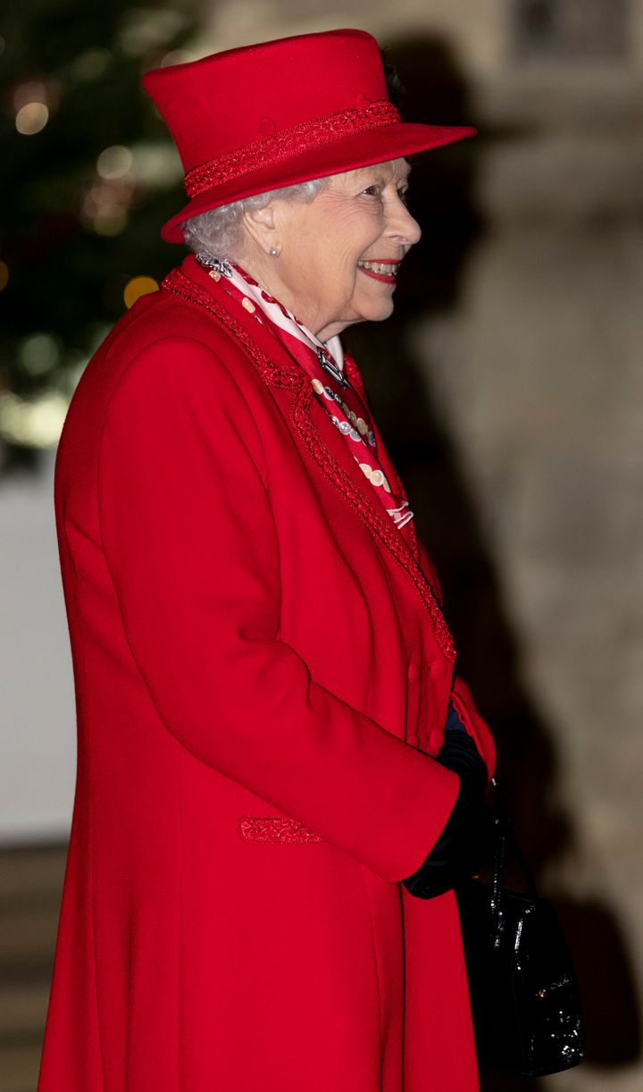 Queen Elizabeth II at Windsor Castle on Tuesday.