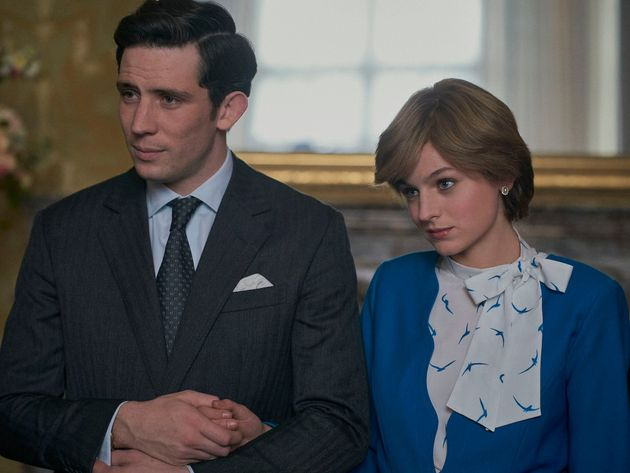 Josh O'Connor as Prince Charles and Emma Corrin as Princess Diana in series four of The