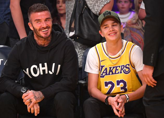 David Beckham and his son Romeo pictured last