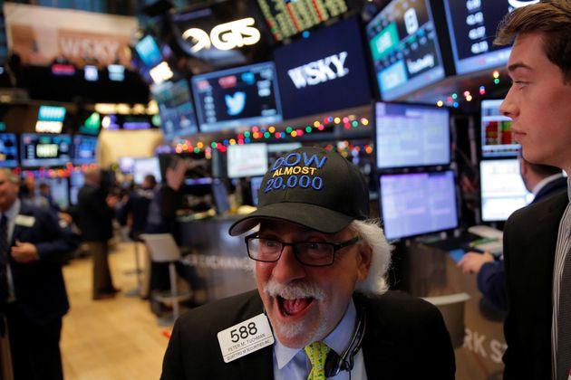 Una foto del parqué del New York Stock Exchange (NYSE) en Manhattan, Nueva