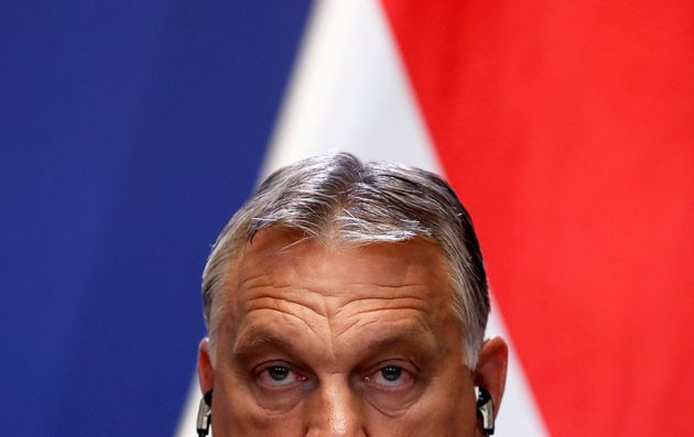Hungary's Prime Minister Viktor Orban holds a joint news conference with Slovakia's Prime Minister Igor...