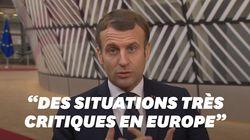 Macron tire la sonnette d'alarme sur le Covid-19 en arrivant au Conseil