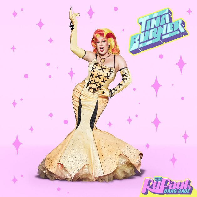 Tina Burner in her RuPaul's Drag Race promo shot
