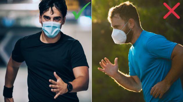 La SEMED recomienda hacer deporte con mascarilla quirúrgica y no con FPP2.