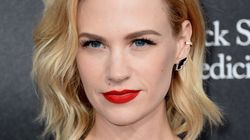 January Jones Shuts Down 'Desperate' Report With Bikini Pic, Middle