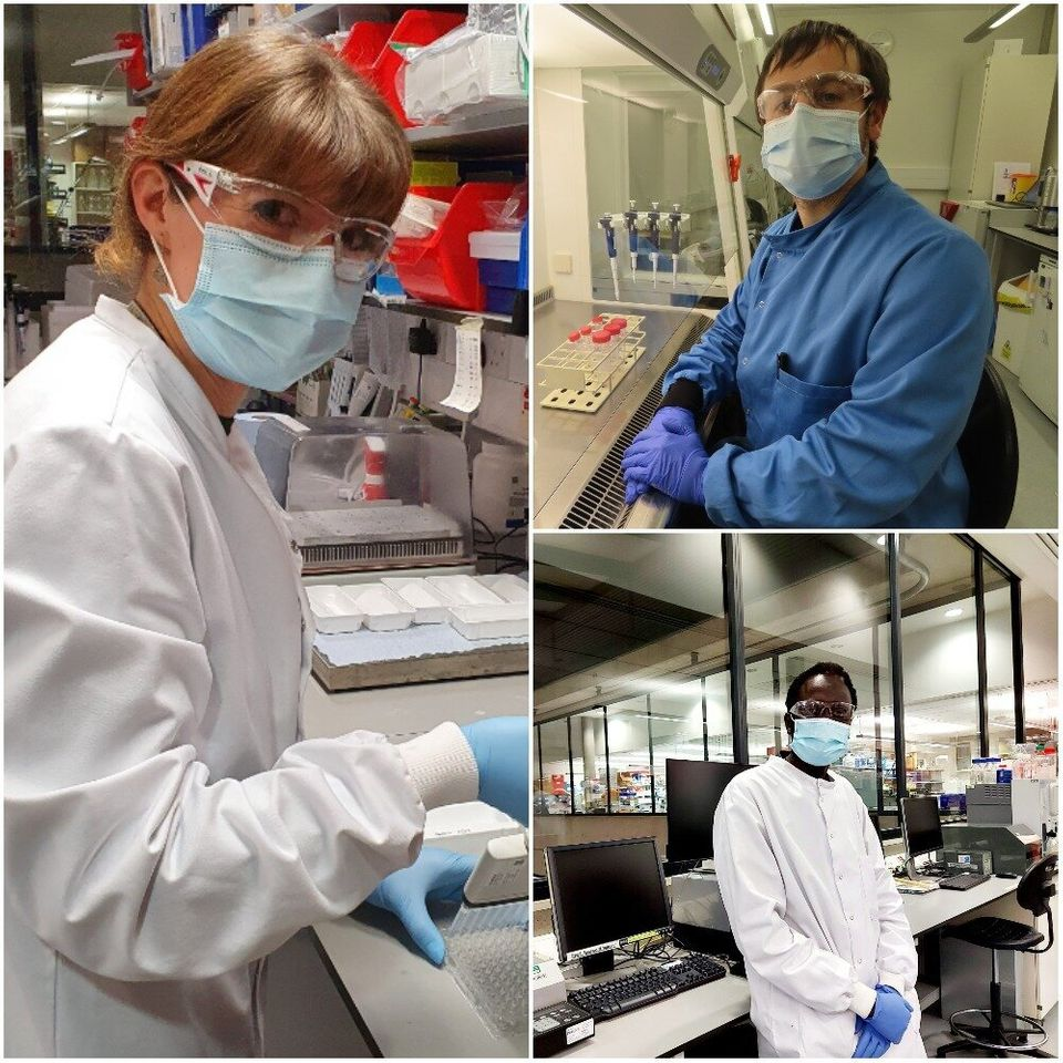 Dr Amy Flaxman, Dr Sean Elias and Dr Mustapha Bittaye all worked on the Oxford University/ AstraZeneca...