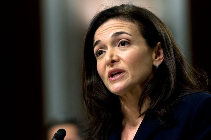 """Facebook COO Sheryl Sandberg testifies before the Senate Intelligence Committee hearing on """"Foreign Influence Operations and Their Use of Social Media Platforms"""" on Capitol Hill, Wednesday, Sept. 5, 2018."""