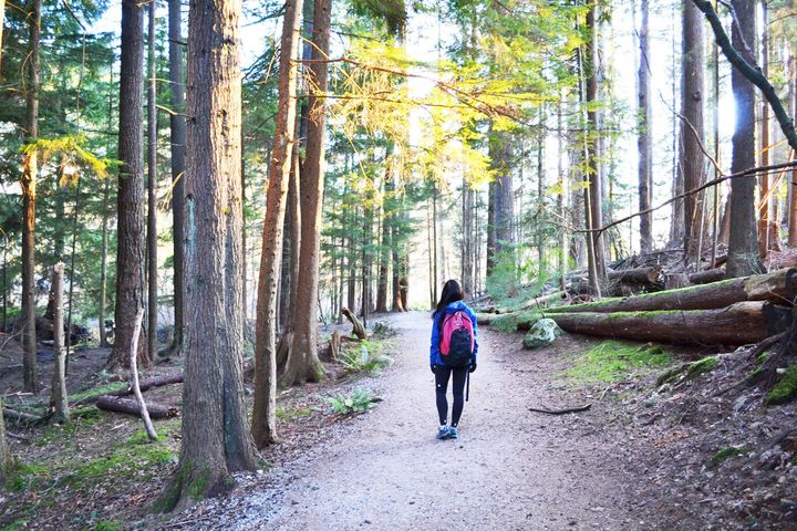 Dr. Melissa Lem on the Belcarra Trail, near Vancouver, on March 21, 2020.