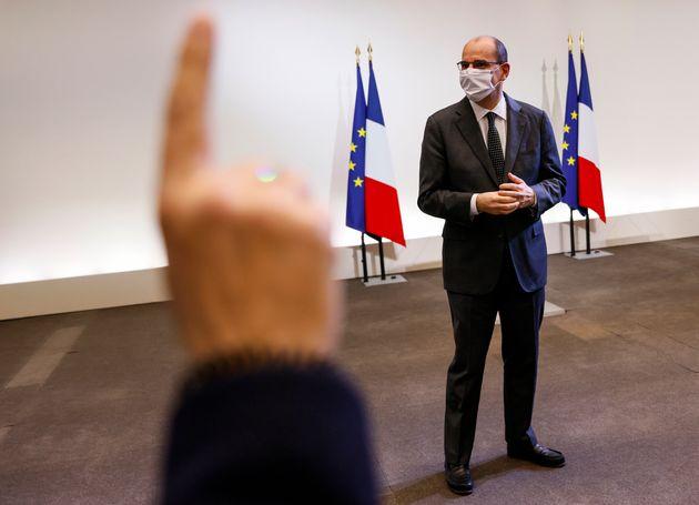 Le Premier ministre Jean Castex, ici lors d'un point presse à Paris, le 10 décembre