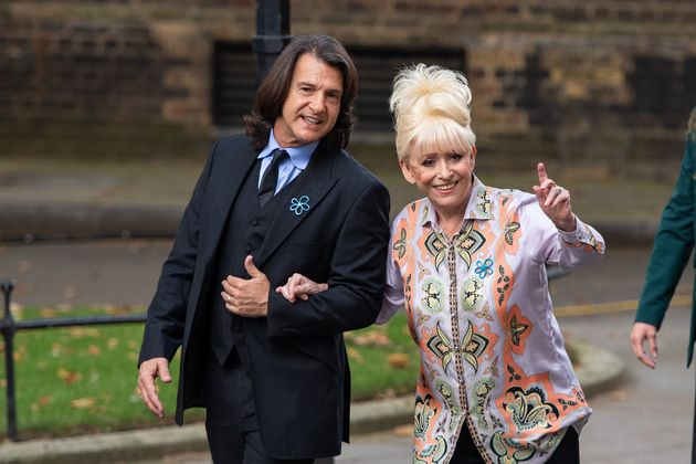Dame Barbara Windsor and her husband Scott Mitchell arriving to deliver an Alzheimer's Society open letter...