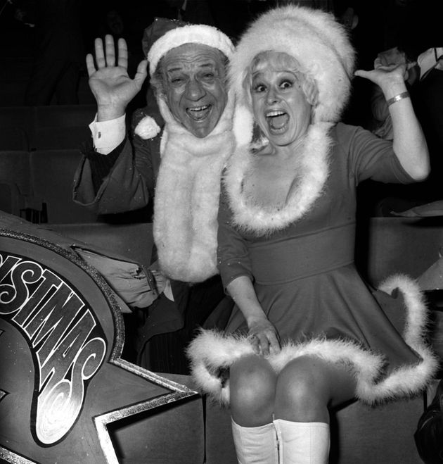 Carry On stars Sid James and Barbara Windsor in