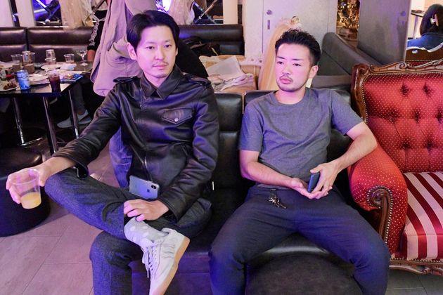 筆者(左)と杉山文野さん(右)