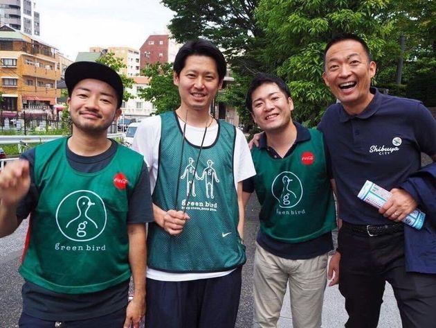 左から、杉山文野さん、筆者、シブヤ大学創設者の左京泰明さん、長谷部渋谷区長