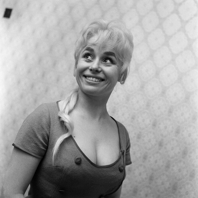 Cockney actress Barbara Windsor at home, 12th February 1960. (Photo by Barham/Daily Herald/Mirrorpix/Getty