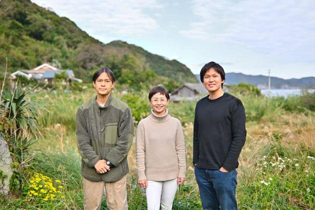 (左から)山家正さん、鈴木円香さん、山家尚さん