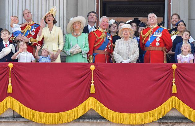 La familia real británica, en junio de
